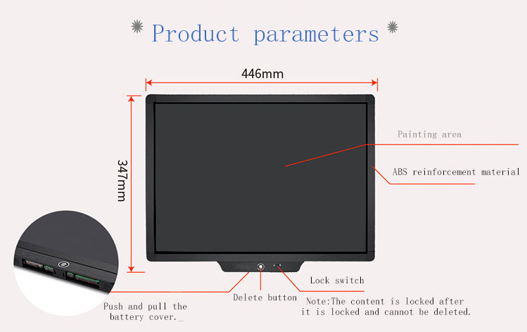 20 inch lcd writing table